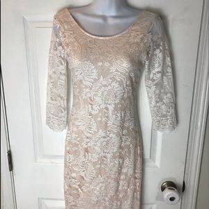 🌈Lovely Day S Fully Lined White Lace Dress!